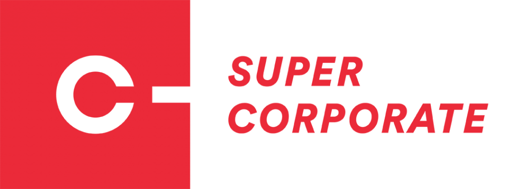 super corporate logo in red